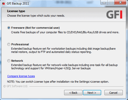 Using GFI Backup Free Edition to Backup Files to an External