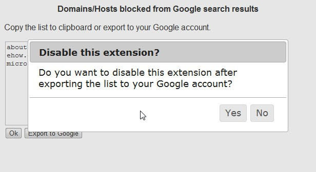 Export Chrome's Personal Blocklist To Your Google Account