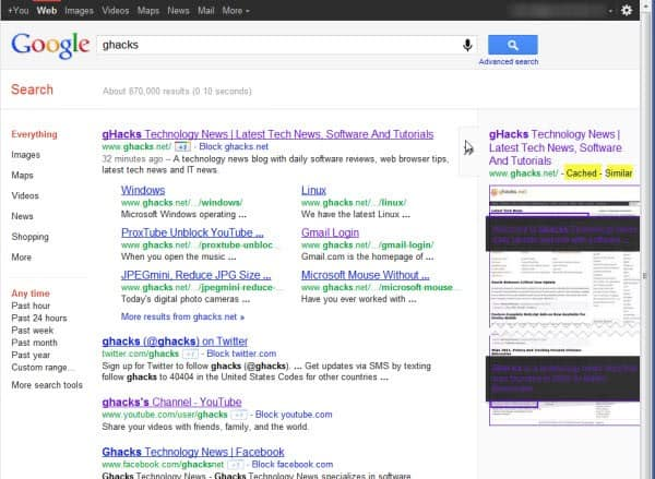 google cached similar link