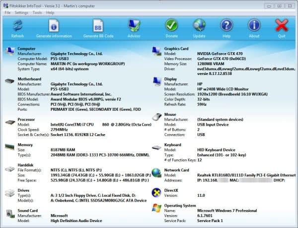 infotool computer hardware