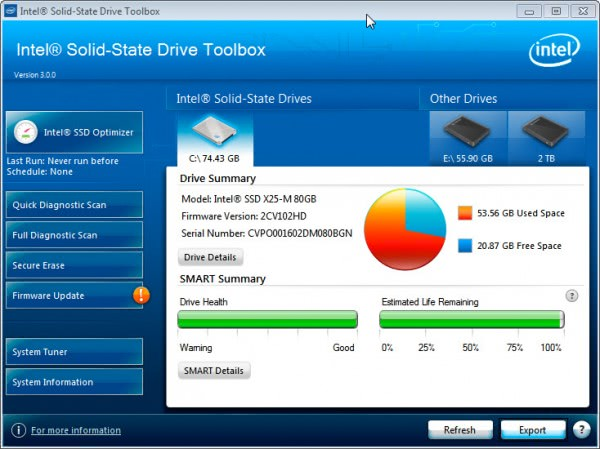 intel solid-state drive toolbox 3