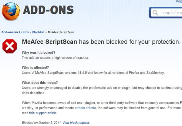 mcafee scriptscan