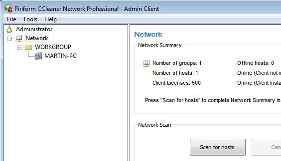 piriform ccleaner network professional