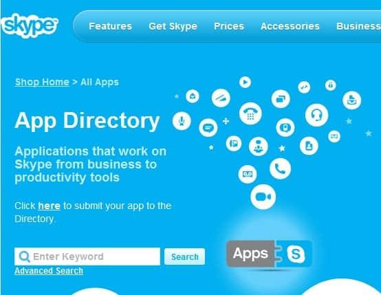 skype app directory