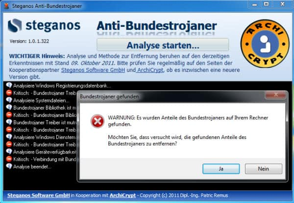 steganos anti bundestrojaner