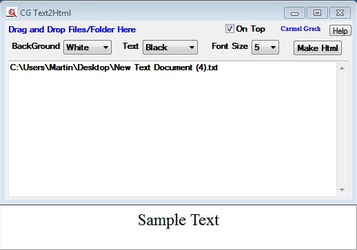 text to html