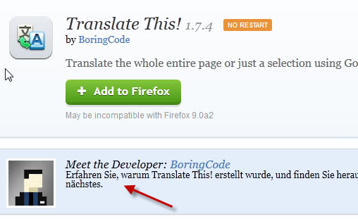 Translate This For Firefox, Translate Web Pages - gHacks Tech News