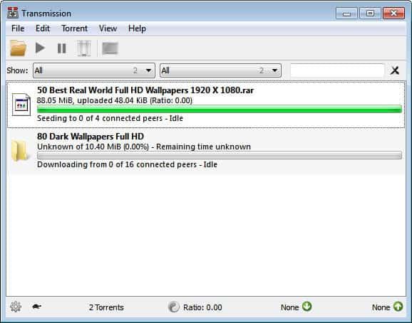 transmission qt bittorrent client