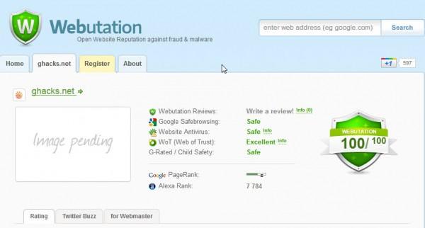 webutation website reputation