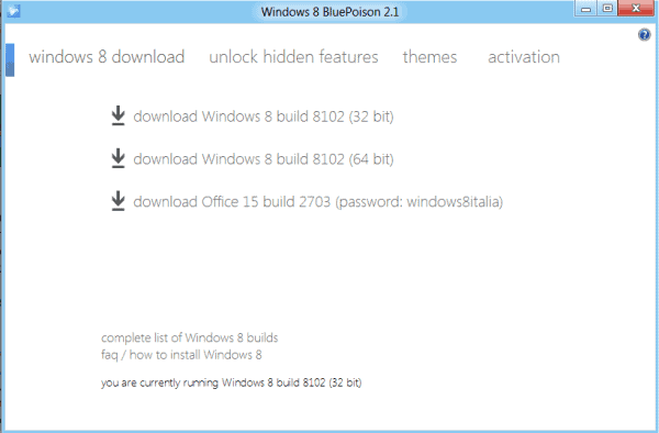 windows 8 download blue poison