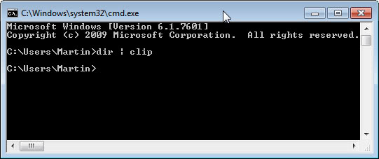 Copy CMD Output Directly To The Clipboard