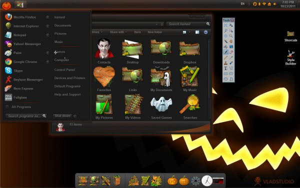 windows halloween theme