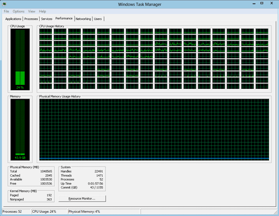 windows task manager large scale