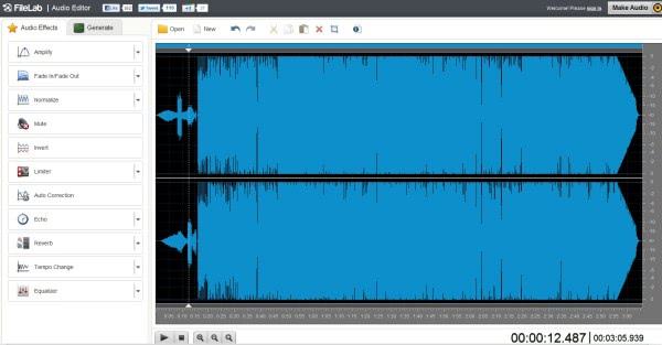 audio editor file lab