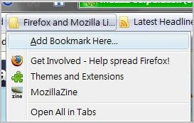 firefox bookmark here