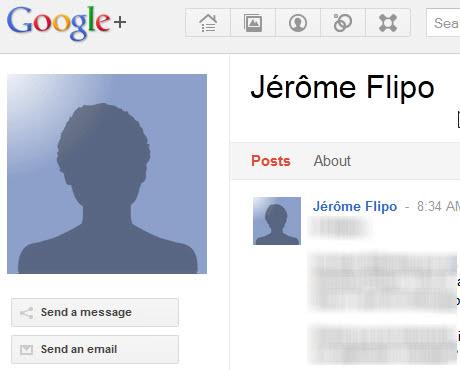 google+ send a message