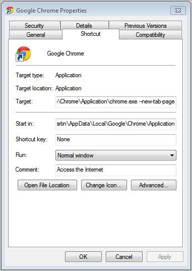 google chrome new tab page