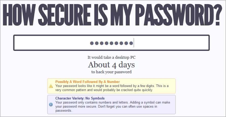 How Long It Would Take To Hack A Password Ghacks Tech News
