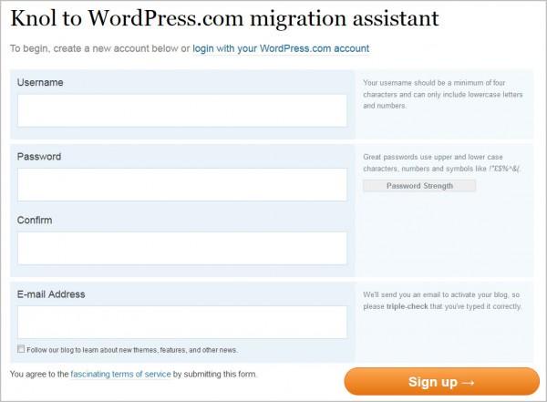 knol to wordpress