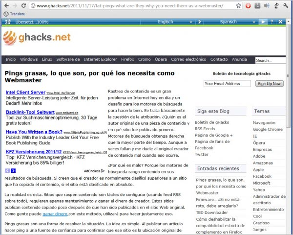 microsoft translator bookmarklet