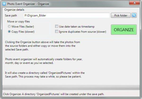 organize images