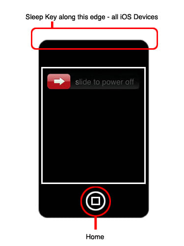 power down ipad iphone