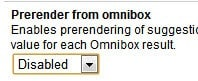 prerender from omnibox preference