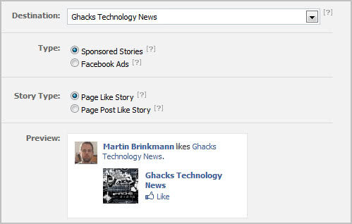 sponsored stories facebook