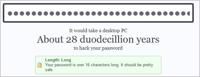 How long does it take to crack a password / Law firm for