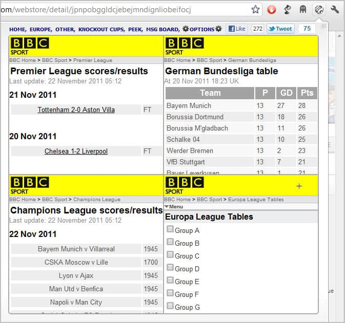 ultimate football results