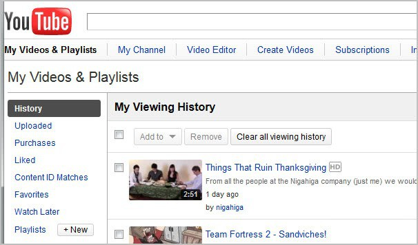 Clear Your YouTube Viewing History, Workaround - gHacks Tech News