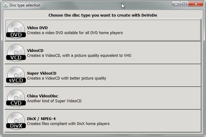 create video dvds