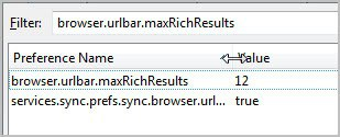 firefox suggestions number