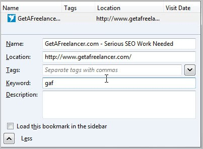 keyword bookmarks