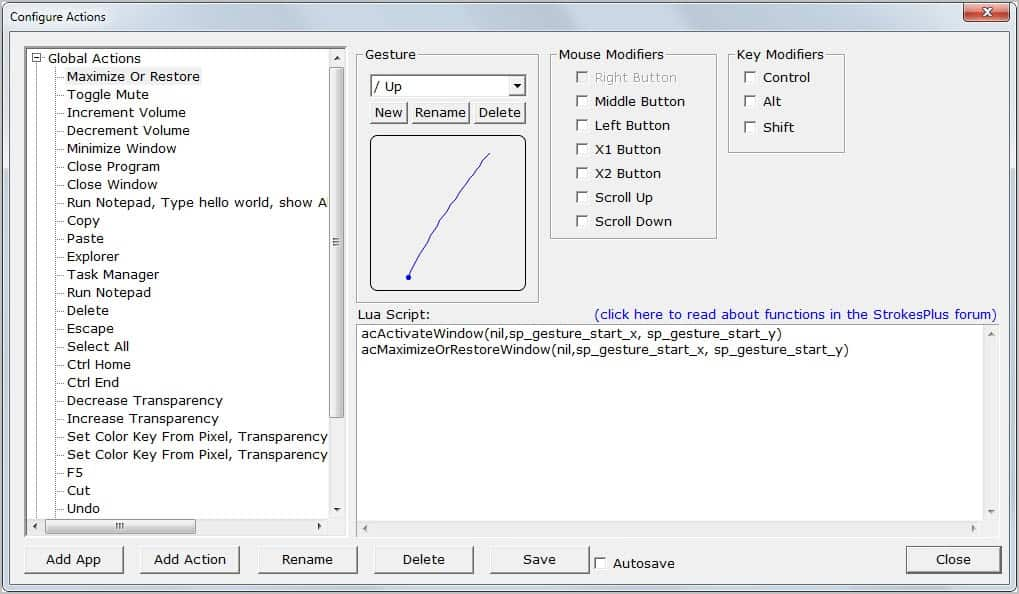 StrokesPlus Is A Lightweight Mouse Recognition Software