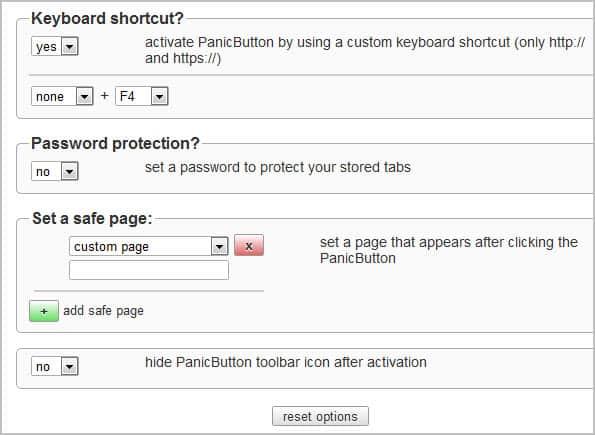 panic button options