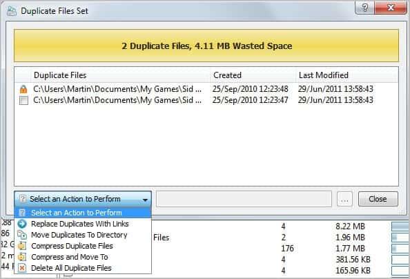 remove duplicate files