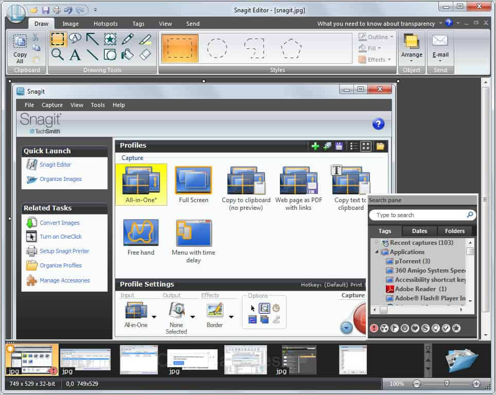 Snagit camtasia studio review ghacks tech news for Image capture