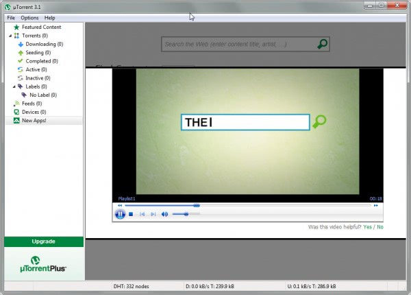 utorrent media player