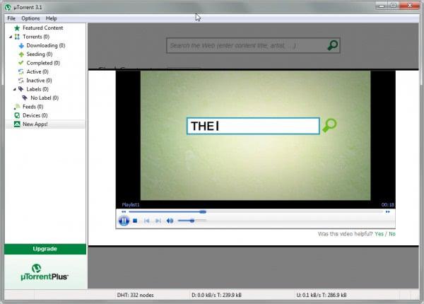 utorrent media player