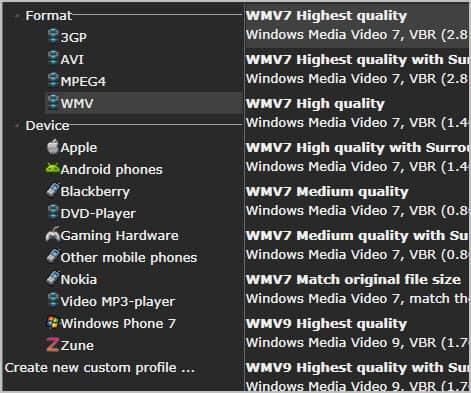 video profiles