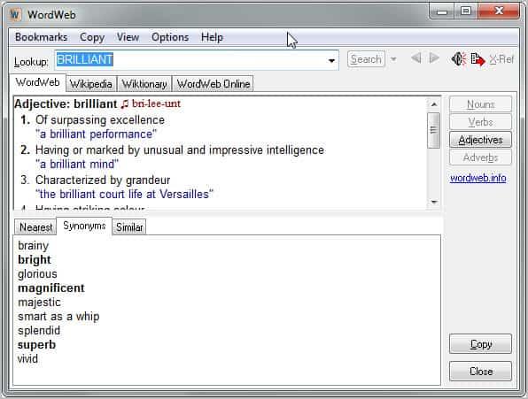 Wordweb Pro Review - gHacks Tech News