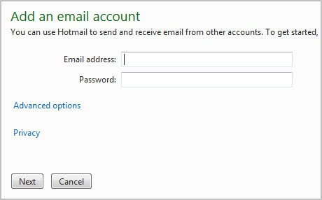 add gmail account to hotmail