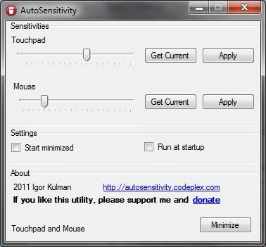 Configure Different Sensitivities For Touchpad and Mouse - gHacks