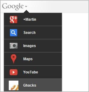 custom google bar