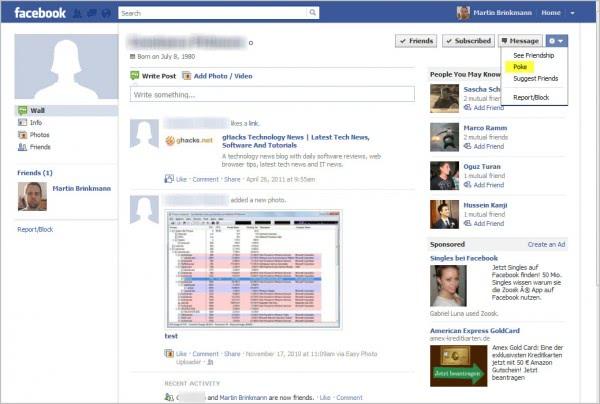 facebook old profile poke
