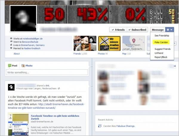 facebook timeline poke