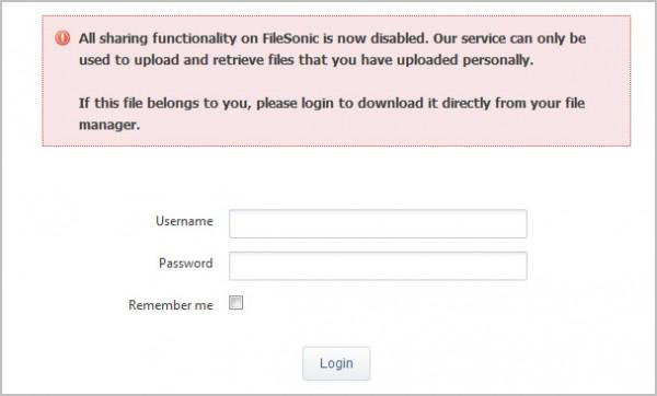 filesonic no downloads