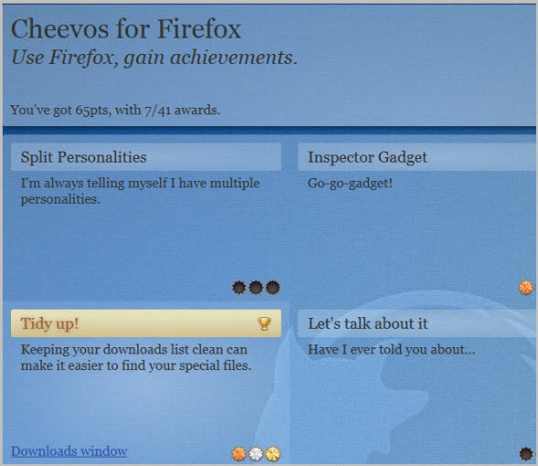 firefox achievements