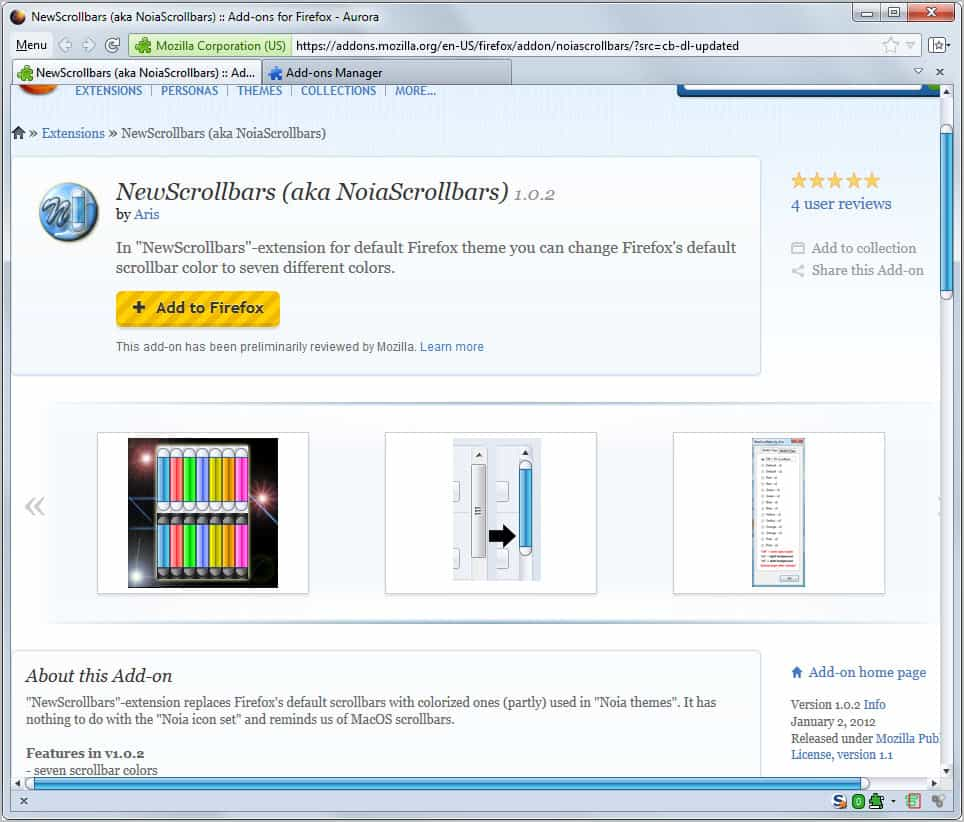 Change The Color Of The Firefox Scrollbar - gHacks Tech News